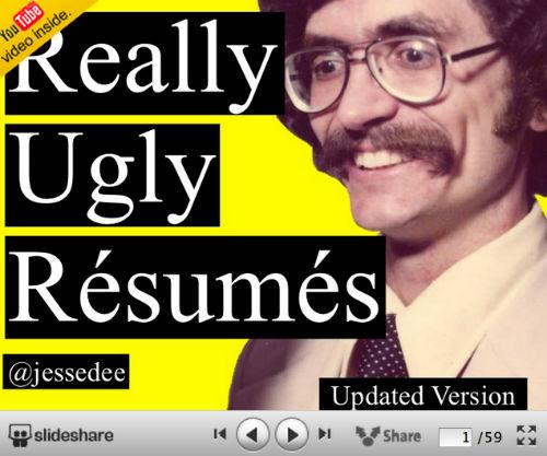 10 kreatywnych wizualnych CV od SlideShare - Really Ugly Résumés - Jesse Desjardins
