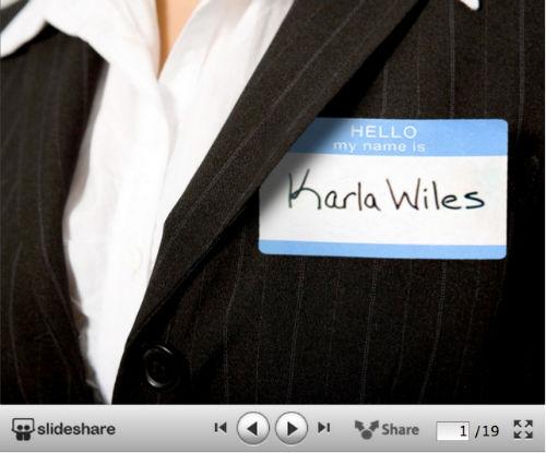 10 kreatywnych wizualnych CV od SlideShare - Rethinking Resumes - Karla Wiles