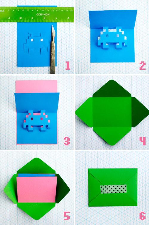 8-bitowe kartki - instrukcja