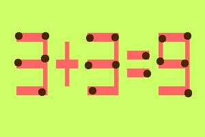 8 zagadek zapałczanych w samo południe- Przełóż jedną zapałkę i rozwiąż równanie - zagadka 5