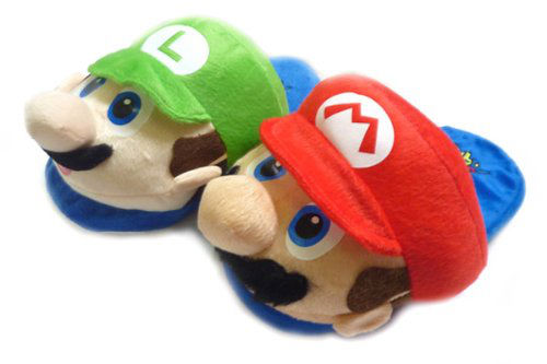Kapcie w stylu Geek - Super Mario