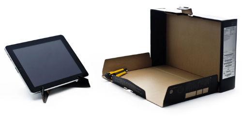 Okazuje się, że z pudełka można zrobić praktyczną podstawkę pod iPada