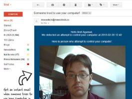 Jak w przypadku włamania do komputera otrzymywać alert mailowy ze zdjęciem hackera