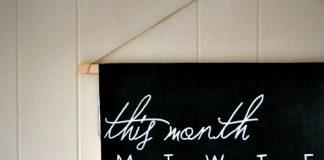Zrób to sam - Kalendarz z tabliczki łupkowej