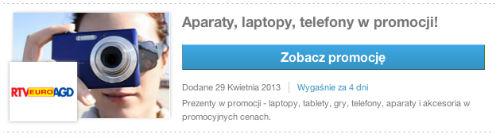 Aparaty, laptopy, telefony w promocji - RTV EURO AGD