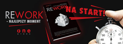 Książka Rework — Jason Fried i David Heinemeier Hansson