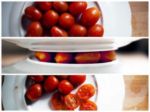 Jak łatwo pokroić pomidory cherry