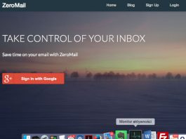 ZeroMail grupuje zbędne wiadomości przychodzące w zwięzłe podsumowanie dnia