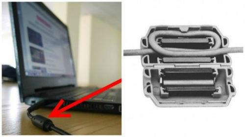 4. Cylinder ładowarki do laptopa