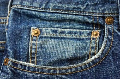 Mała kieszonka w spodniach dżinsowych