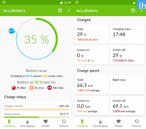 Aplikacja AccuBattery na Android (Sklep Google Play)