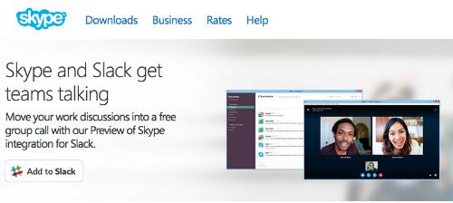 Skype dla Slack przenosi rozmowy ze Slacka do rozmowy grupowej Skype
