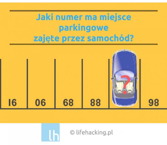 łamigłówki dla dzieci zadania dla sześciolatka siedmiolatka zagadki parking miejsce parkingowe szkoła hongkong