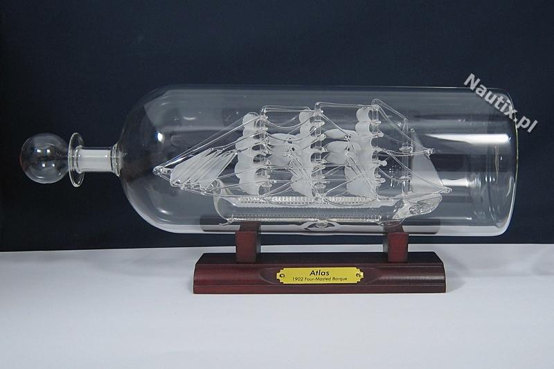 Statek w butelce dekoracja marynistyczna Nautix