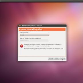 Konfiguracja mobilnego Internetu iPlus w Ubuntu 11.04 - wybór taryfy iPlus