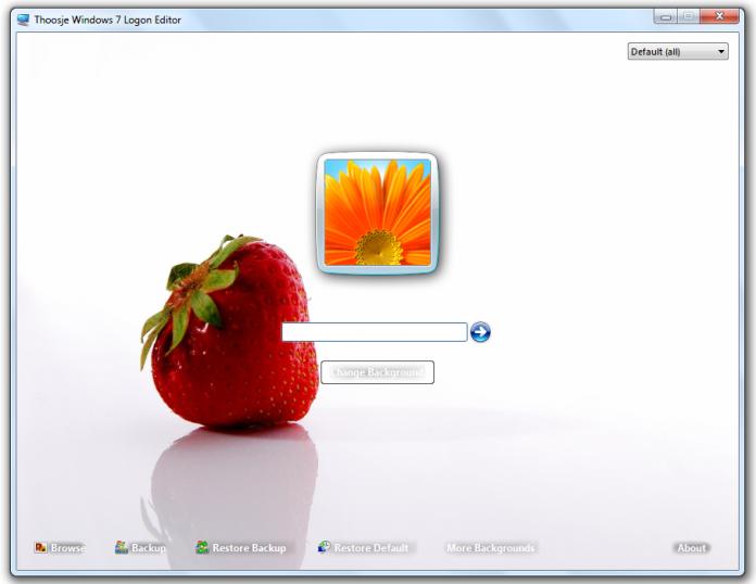 Nowe tło - nowy ekran logowania dzięki Thoosje Windows 7 login editor 1.0