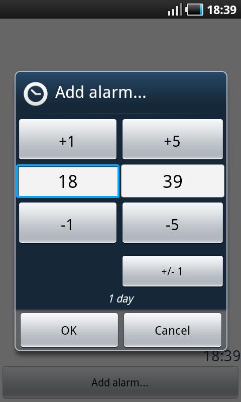 Sleep Bot Tracker Log - Ustawianie alarmu