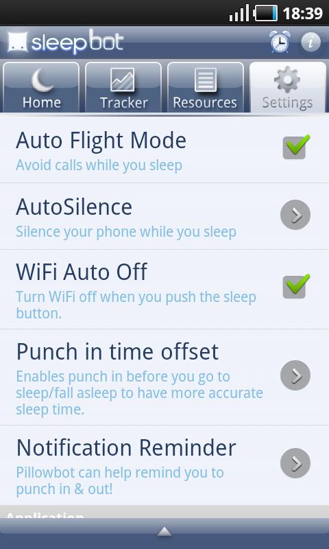 Sleep Bot Tracker Log - Zakładka Konfiguracja