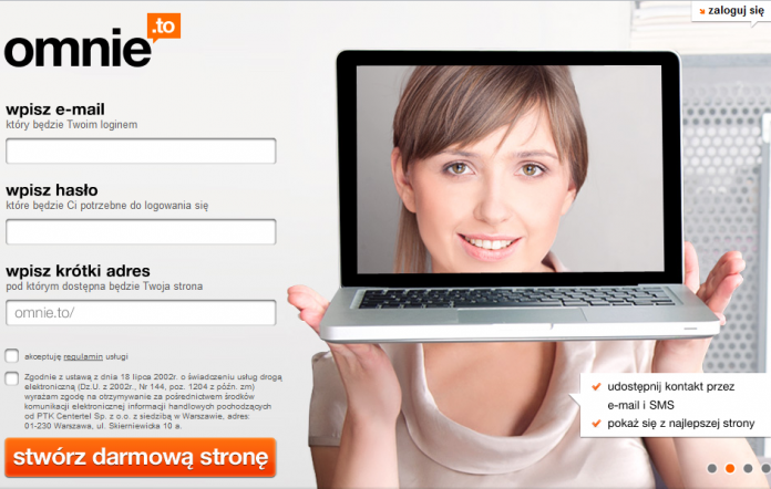 o.mnie.to Orange Polska - Stwórz swoją wizytówkę i udostępnij ją przez e-mail i SMS