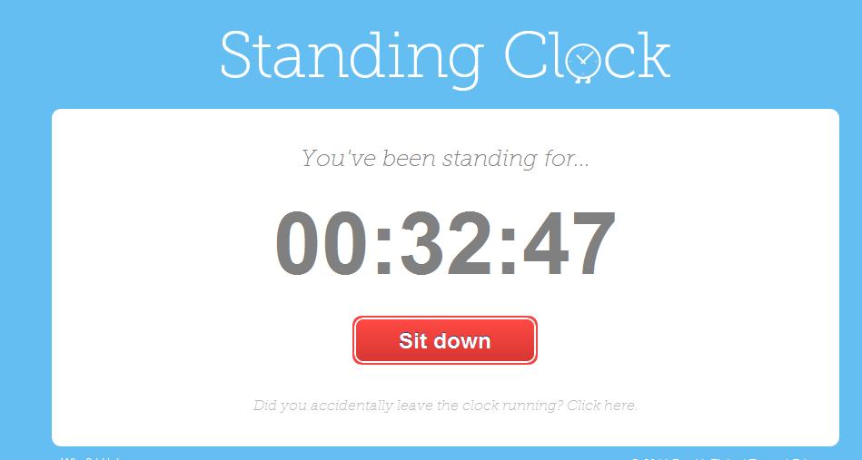Jak długo stoisz w ciągu dnia - Standing clock - Lifehacker