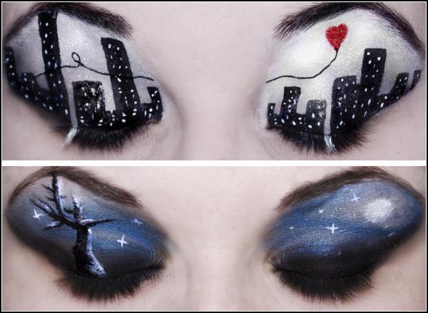 Oczy jako płótno - kreatywny makijaż, który odzwierciadla duszę 2