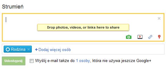 Udostępnianie zdjęć, filmów oraz linków w Google+ - Lifehacker