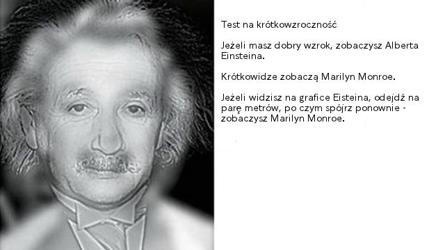 Monroe czy Einstein: Sprawdź swój wzrok, nie odchodząc od komputera - Lifehacker