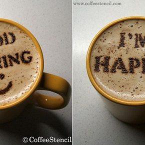 Szablony CoffeeStencil - 1 - (Nie)szablonowe komunikaty i wzorki na kawie