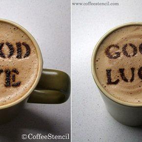 Szablony CoffeeStencil - 5 - (Nie)szablonowe komunikaty i wzorki na kawie