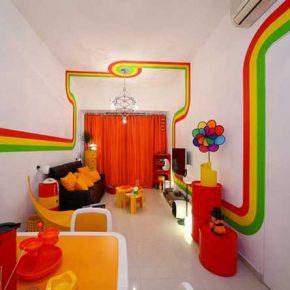 Tęczowy pokój dziecięcy