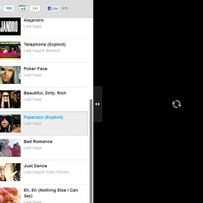 Singboard - panel wyboru utworu