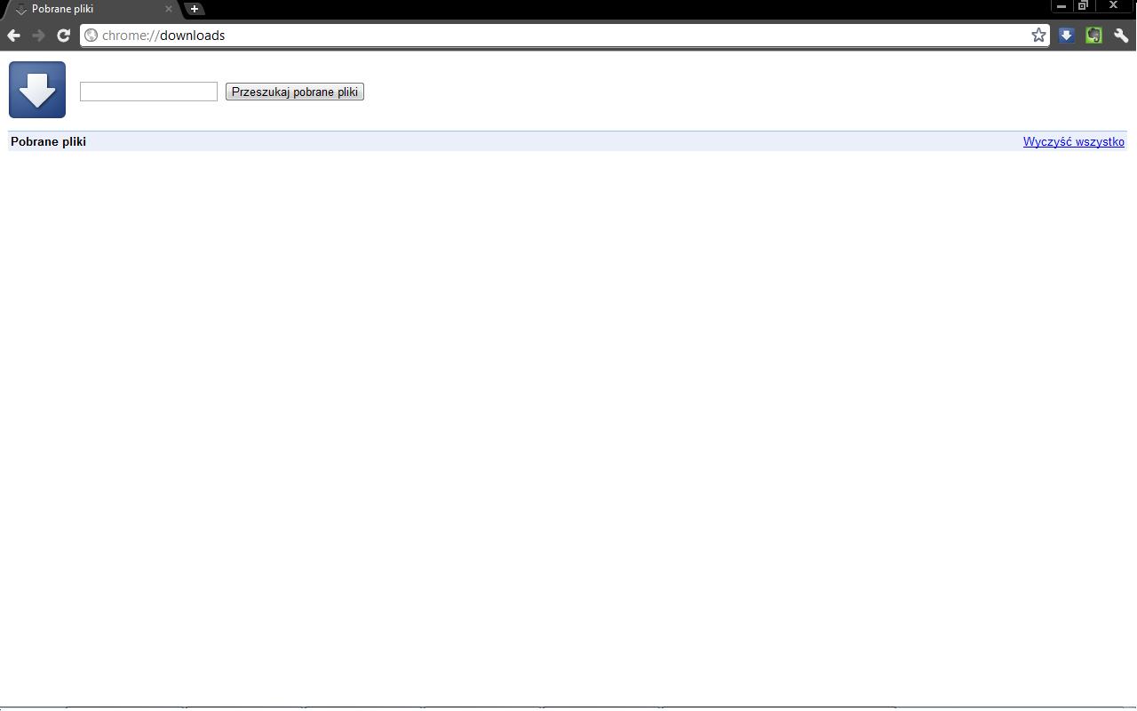 Google Chrome - Pobieranie (Pobrane pliki)