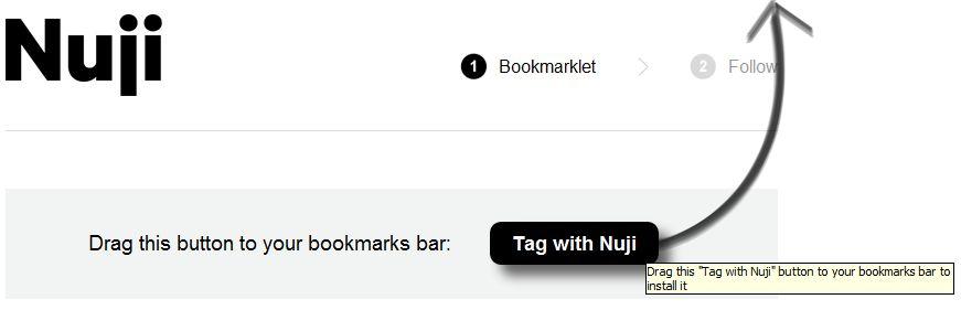 Google Chrome - Skryptozakładka Nuji - bookmarklet przeciągany na pasek adresu