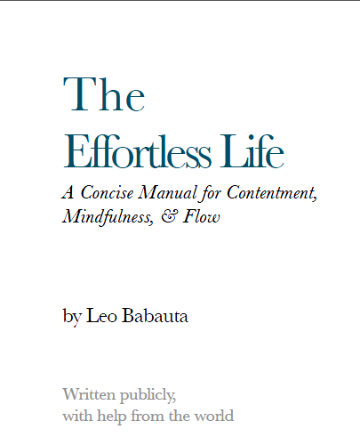 Leo Babauta wydał nową książkę - The Effortless Life