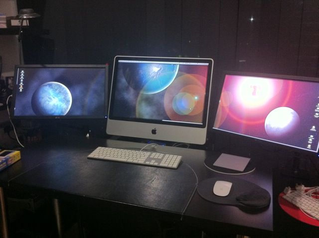 Praca na kilku monitorach w systemach Apple (iMac)