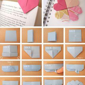 Coś dla milusińskich - ręcznie robione zakładki do książek - zakładka w kształcie serduszka