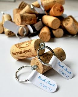 18 zapierających dech sposobów na wykorzystanie korków po winie - breloczek na klucze