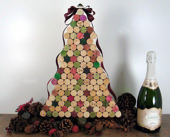 18 zapierających dech sposobów na wykorzystanie korków po winie - ozdoby świąteczne
