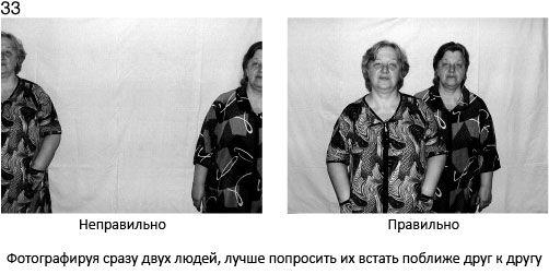 33 Fotografując 2 osoby naraz, najlepiej je poprosić, aby stanęły bliżej siebie - źle