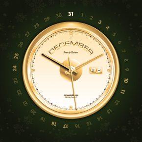 Grudniowe tapety z kalendarzem od Smashing Magazine - Time Is Ticking Away-1024x768