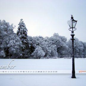 Grudniowe tapety z kalendarzem od Smashing Magazine - Winter Wonderland-1024x768
