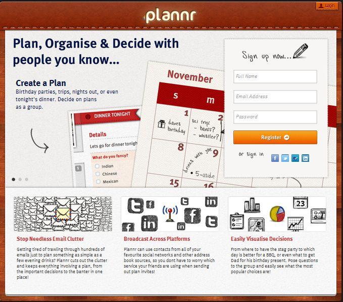 Plannr - seksowny organizer internetowy