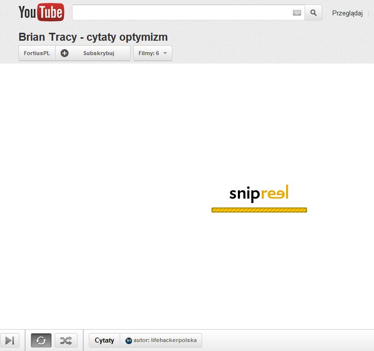Stała Wadswortha i Snipreel, czyli jak oszczędzać czas korzystając z YouTube