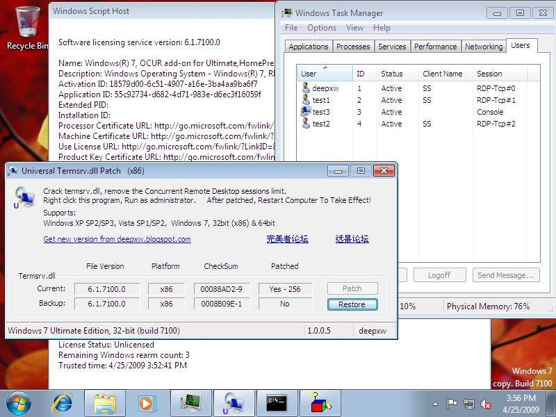 Jak umożliwić wielokrotne sesje równoległe w Windows XP, Windows Vista oraz Windows 7
