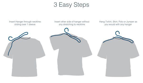 Jak powiesić koszulkę, aby jej nie rozciągnąć