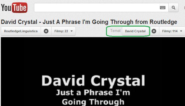Eksperymentalna funkcja YouTube filmy na interesujący Cię temat - David Chrystal