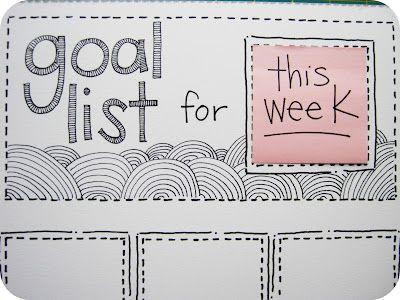 Pomysł - Kontrola nad celami z DIY kalendarzem Post it - 1