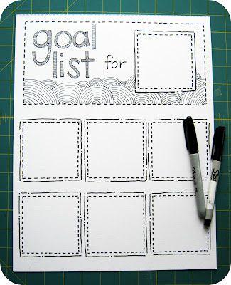 Pomysł - Kontrola nad celami z DIY kalendarzem Post it - 3