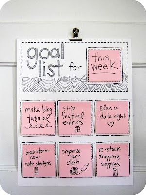 Pomysł - Kontrola nad celami z DIY kalendarzem Post it - 4