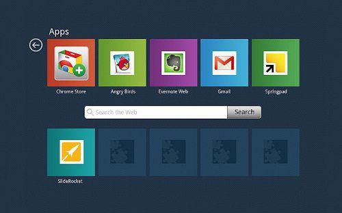 Google Chrome - Rozszerzenie Mysites - aplikacje
